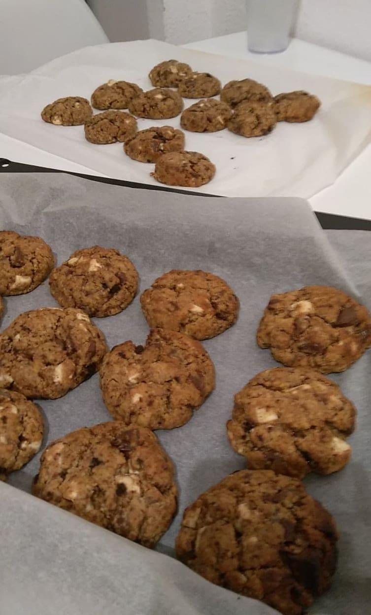 Fig.2 - Les cookies cuits sont très moelleux.